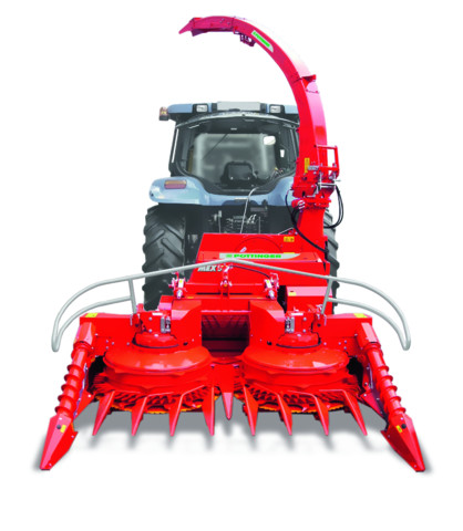 Forage harvester for rear or front mounting with row-independent maize header