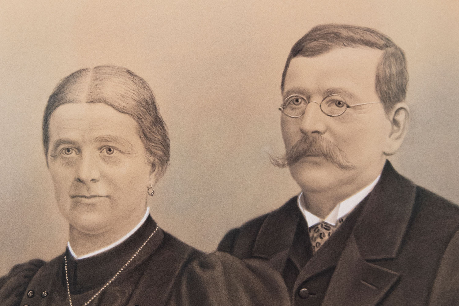 Founder Franz Pöttinger with his wife Juliane, who is responsible for accounting.