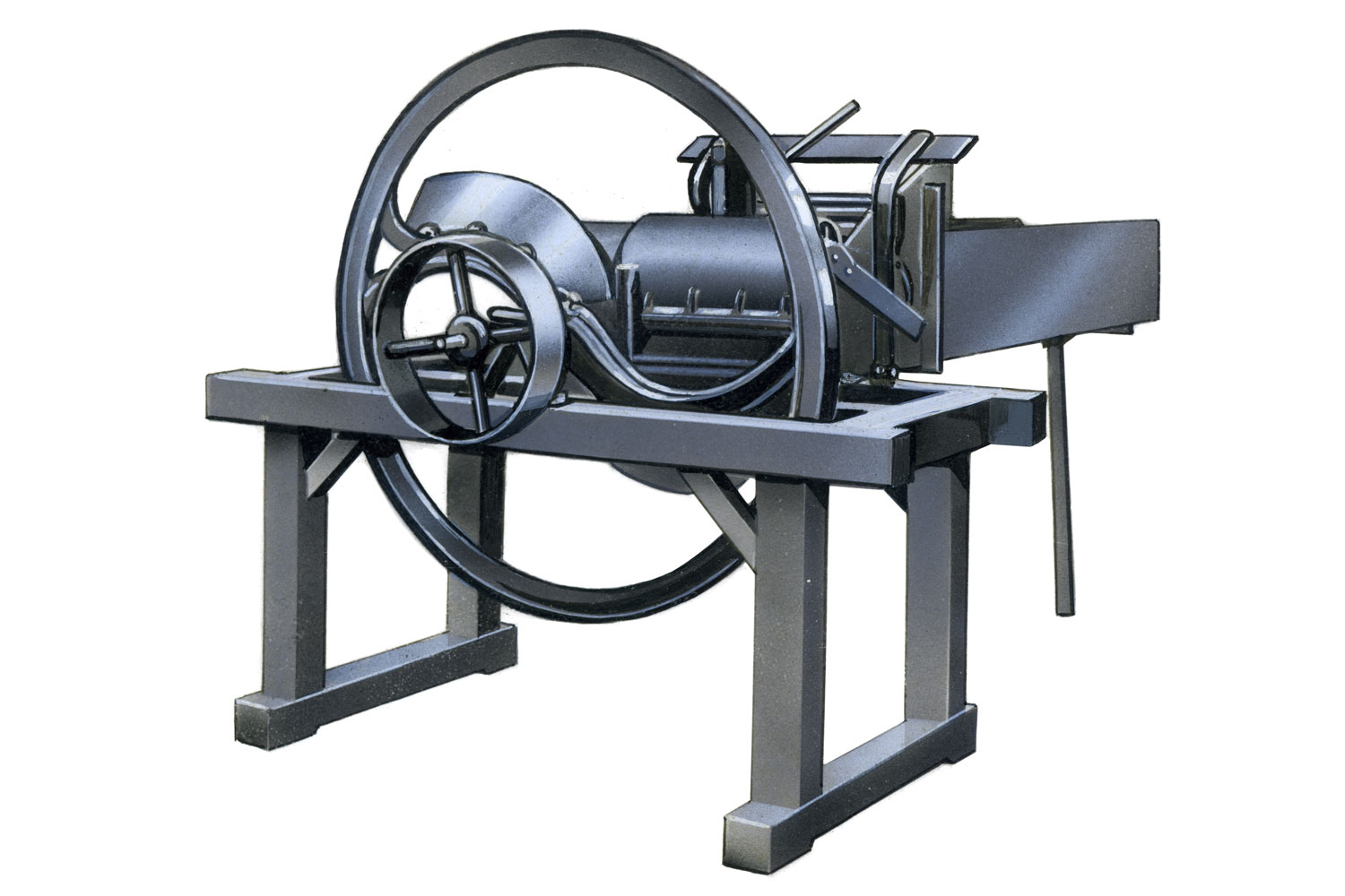 How it all started: Franz Pöttinger's forage cutting machine from 1871, which, like all PÖTTINGER developments after that, saved farmers a great deal of time and effort.