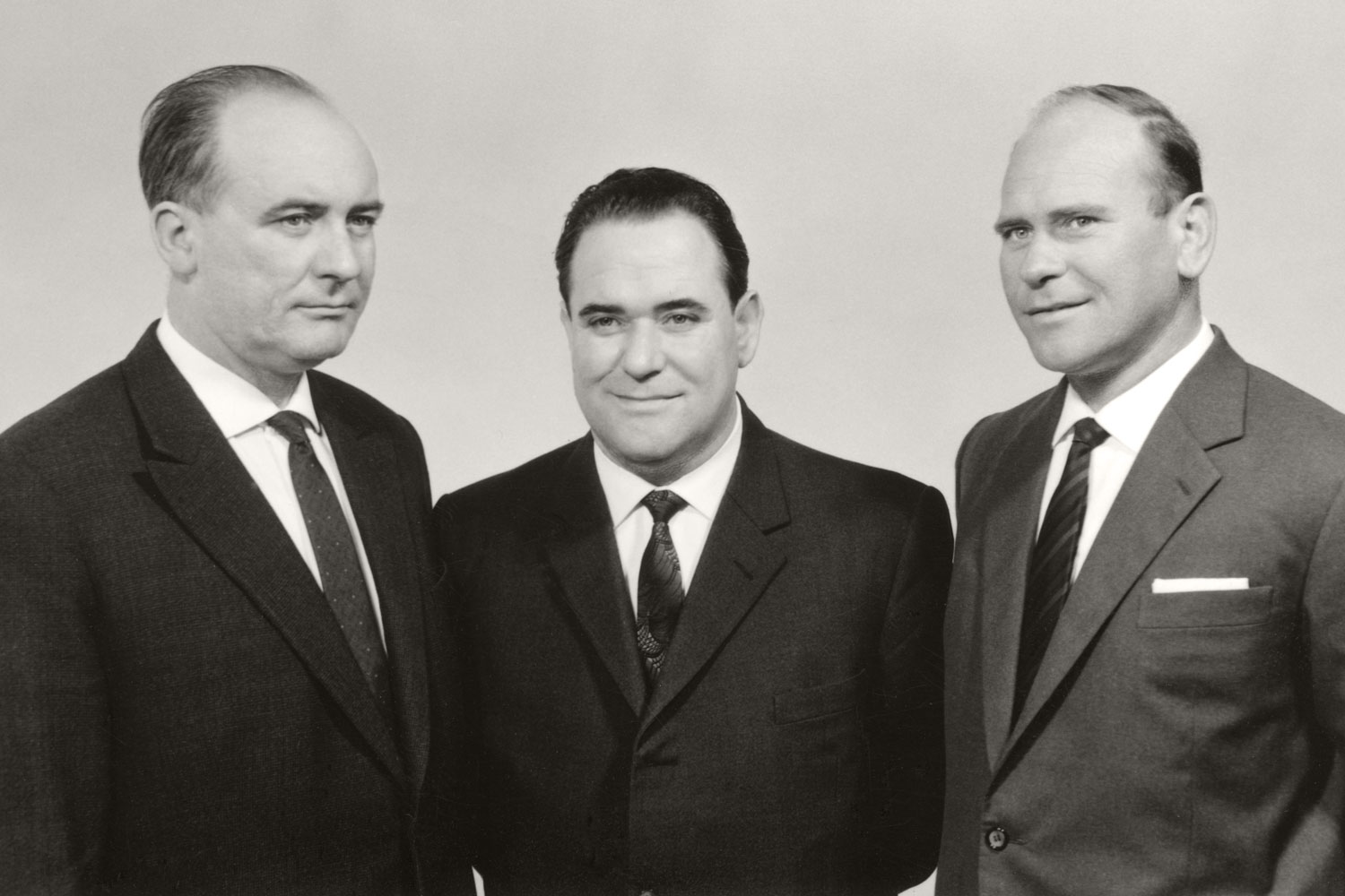 Sociable, thrifty and athletic: Alois, Hans and Heinz Pöttinger.