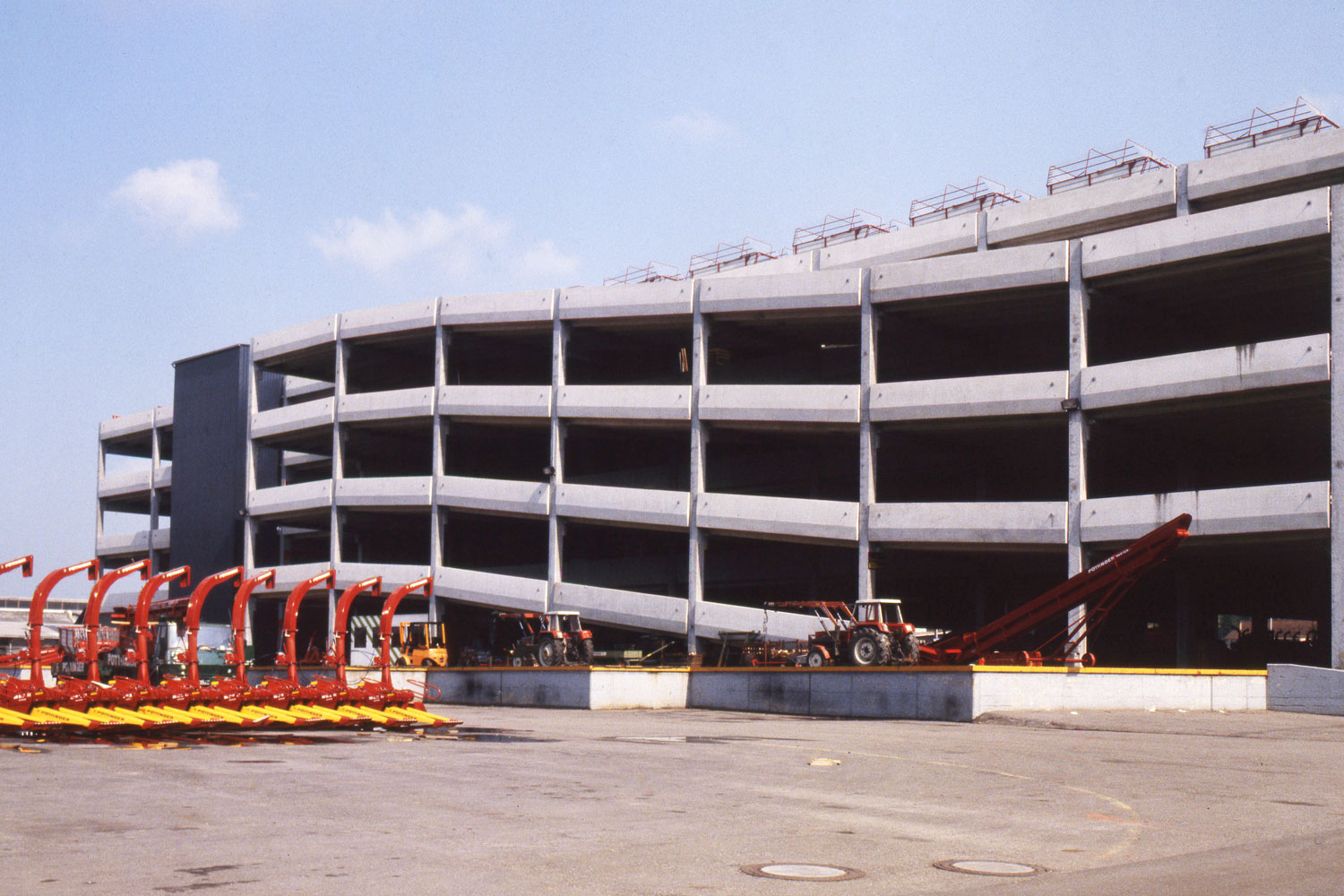 Could easily be mistaken for a multi-storey car park: The storage hall opened in 1977.