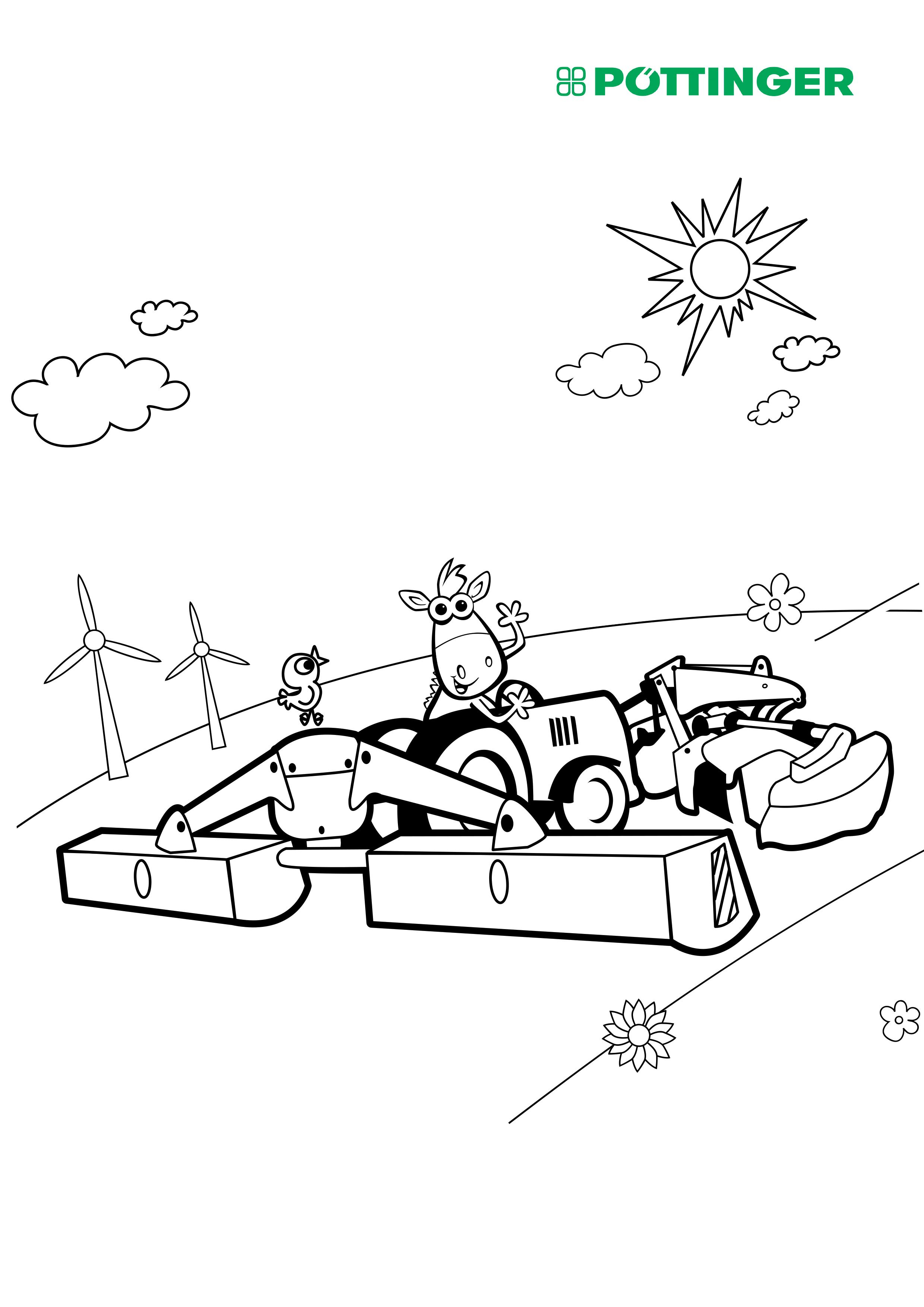 ausmalbilder traktor mit sämaschine  malvorlage traktor
