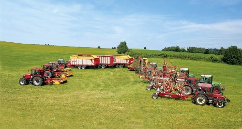 Impressive line up of machinery in the Czech Republic