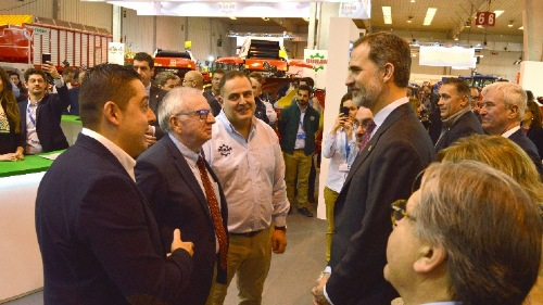 Royal visit to FIMA in Zaragoza (SPA)