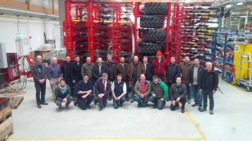 Seed drill product training at PÖTTINGER Bernburg, Germany