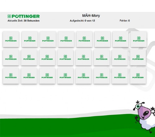 New online game: PÖTTINGER Mow-mory