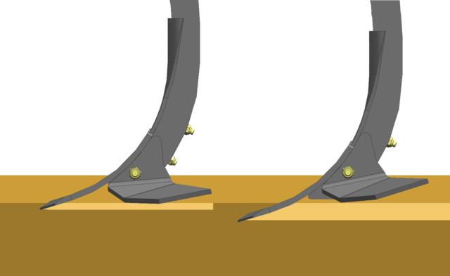 Два положения крыльев лап