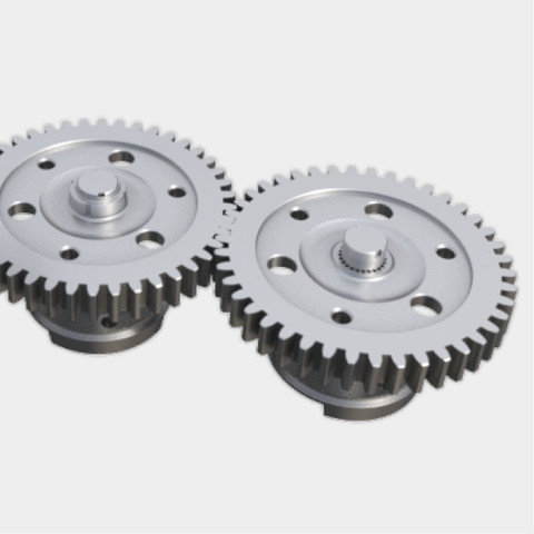 Large dimension gears