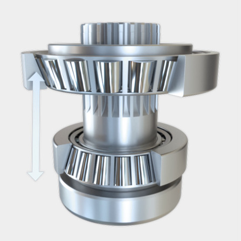 Tapered roller bearing spacing