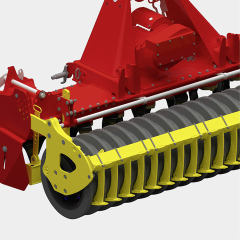 Rubber packer roller
