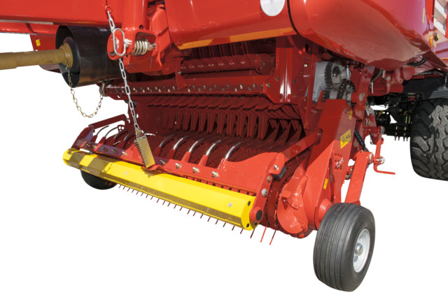 Wind guard with swath roller