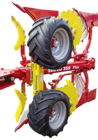Сдвоенное опорное колесо с шинами