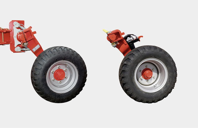 Transport pivot wheel - pneumatic tyre