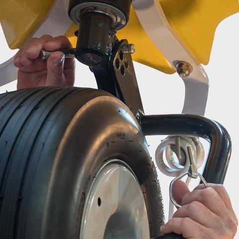 Nastavení sklonu rotorů