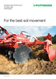 TERRADISC compact disc harrows up to 6 metres wide