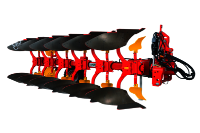 SERVO 45 S heavy mounted reversible ploughs with reinforced tilting trestle, up to 350 HP