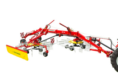 TOP Rakes with 2 rotors with side swath delivery