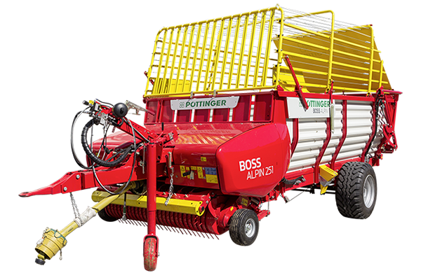 BOSS ALPIN  - Loader wagons with feeder combs