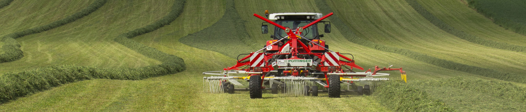 TOP twin rotor side swath rakes