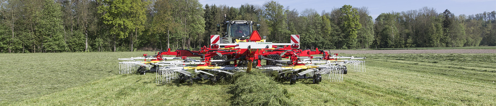 TOP centre swath rakes with four rotors